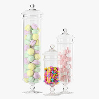 Apothecary Jars with sweets