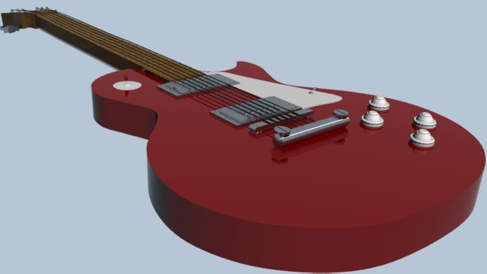 guitar strings 3d max