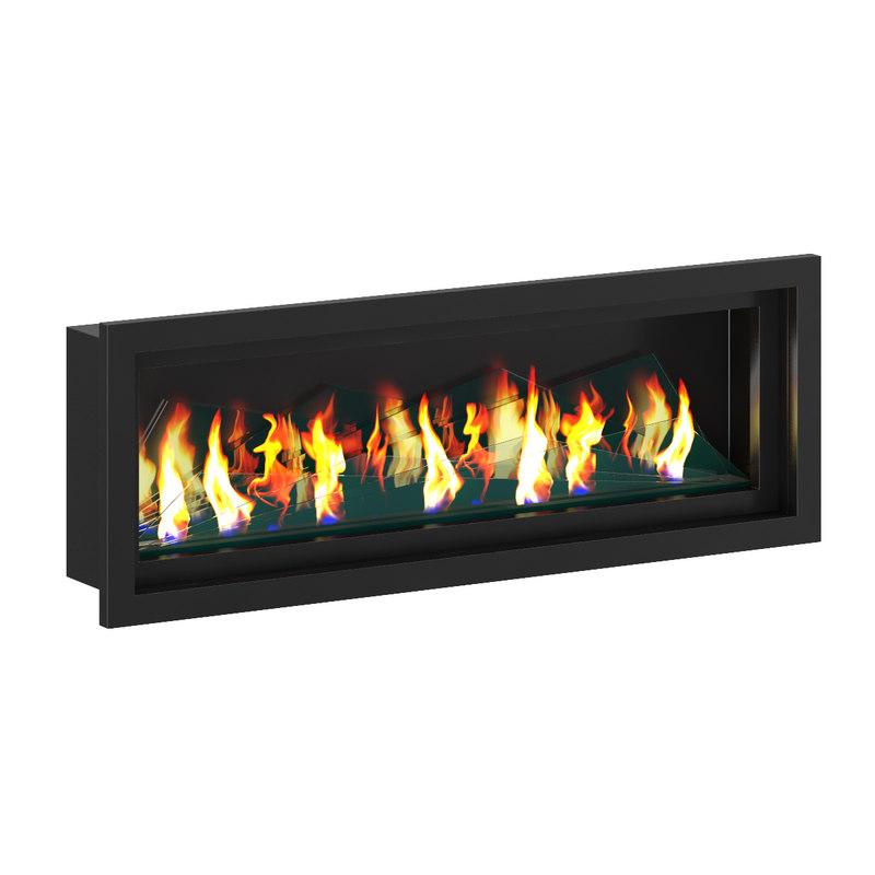 c4d wall gas fireplace