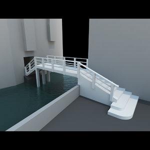 3d model real bridge venice ghetto