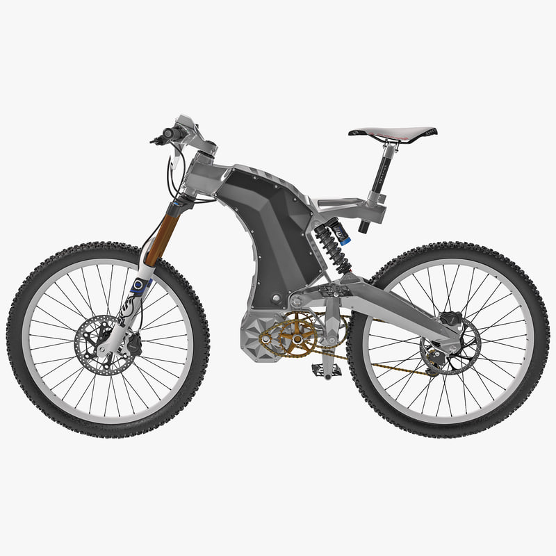 Electric Hybrid Turbocharger: Beastly Electric Hybrid Bike 3d Model