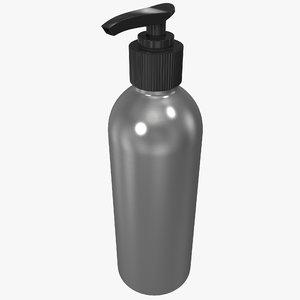 3dsmax body lotion bottle