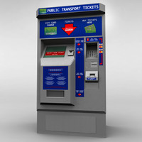 Bus Ticket Machine low poly