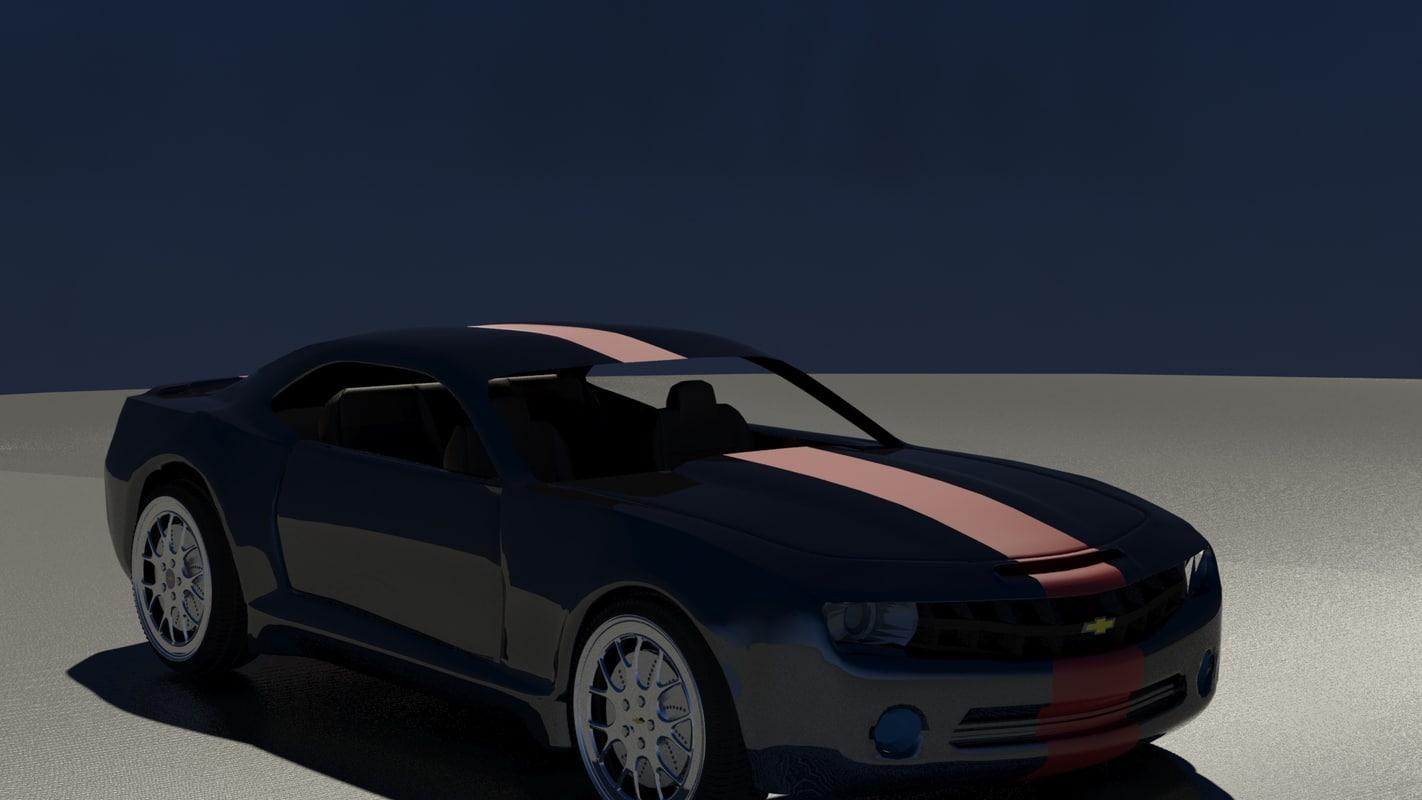 3d model chevrolet camero