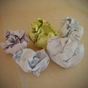 crumpled balls paper 3d model