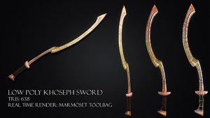 khopesh sword 3d model