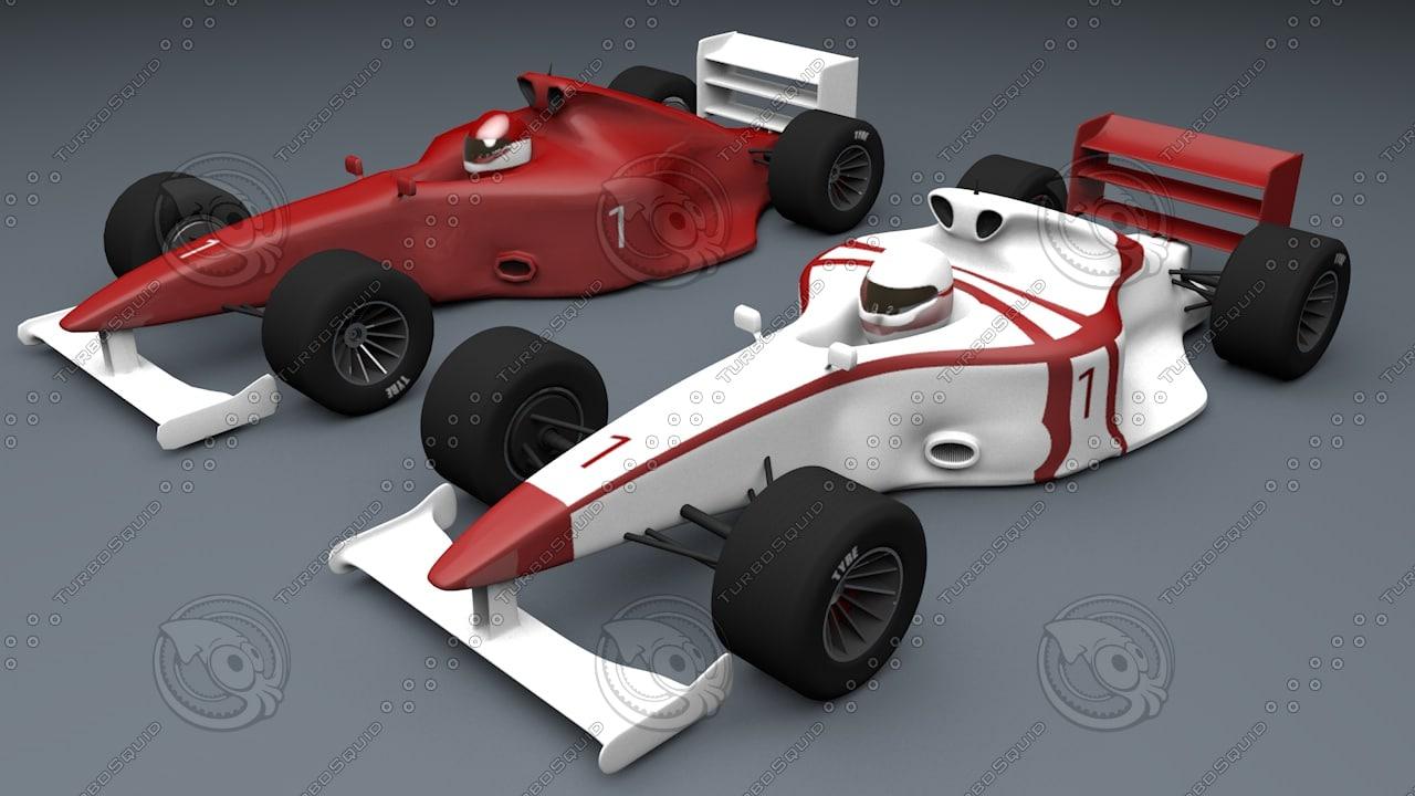 formula 1 car types 3d 3ds