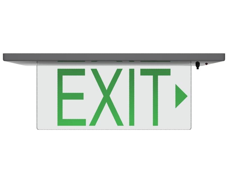 glass exit sign 3d max