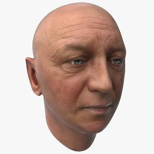 3d male head 12 model
