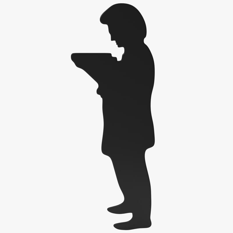 3d model man silhouette 3