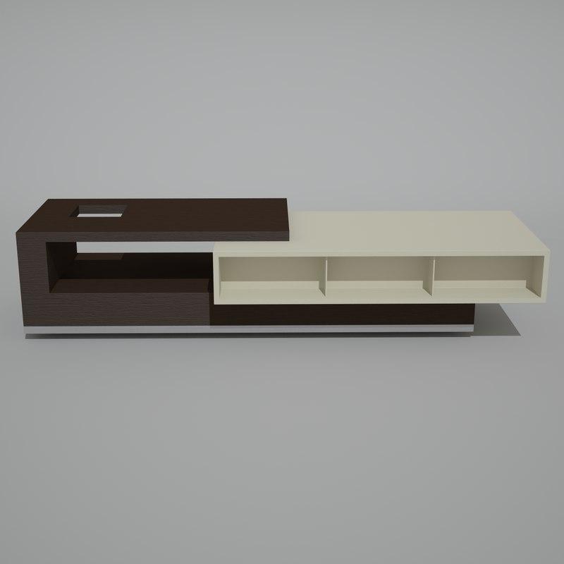 4 modern tables obj