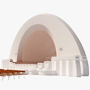 3d model music pavilion