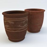 planters terracotta plant 3d model