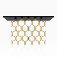 Porta Romana Honeycomb Console Table