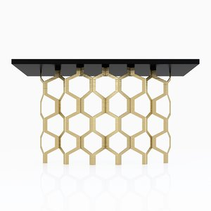 3d model porta romana honeycomb console table