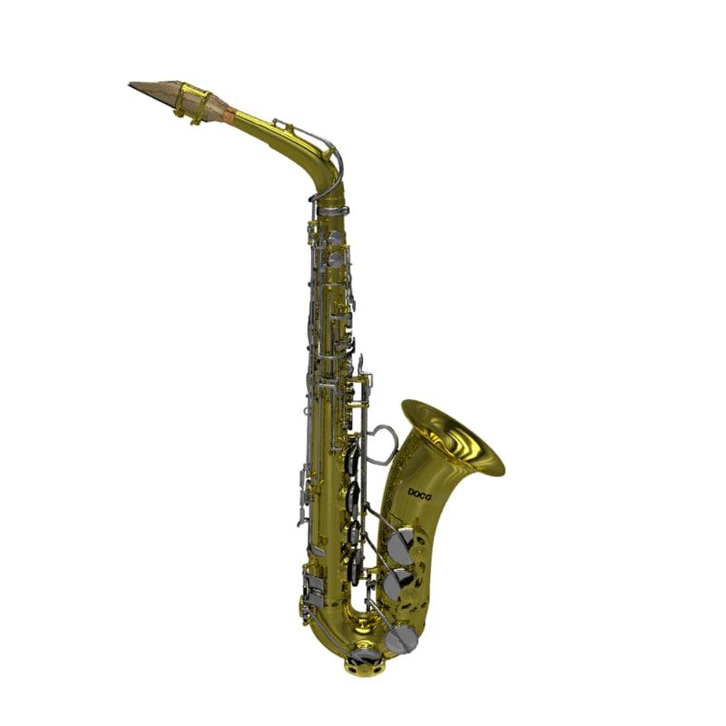 3d model saxophone sax