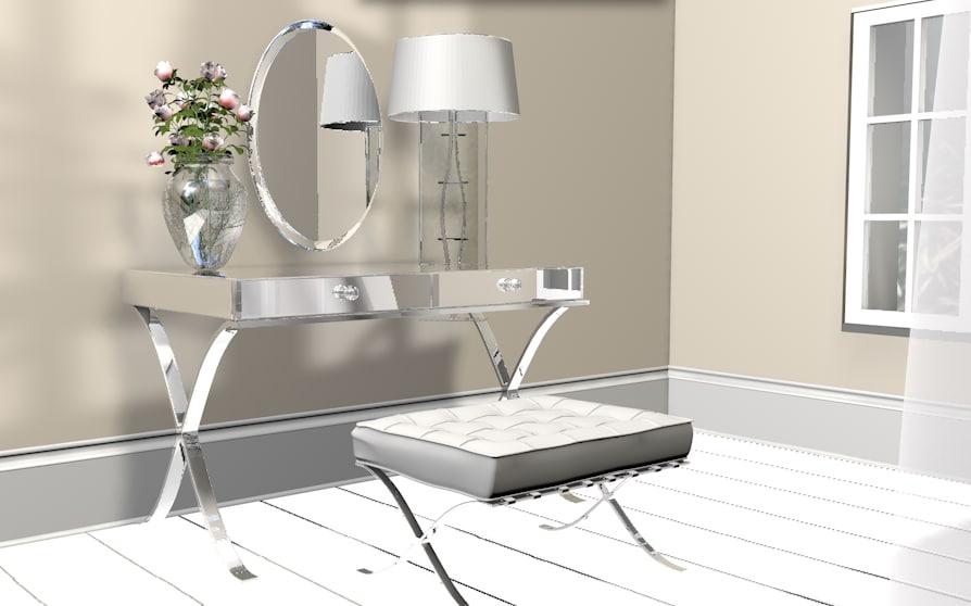 vanity dresser mirror 3d model