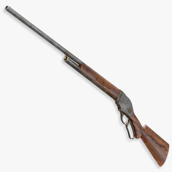 winchester 1887 shotguns gun 3d model