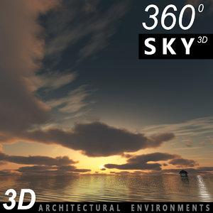 sky clouds 3d max