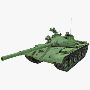 t-62 soviet main battle tank 3d max