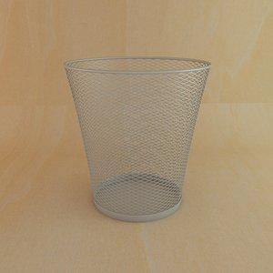 metal basket 3d model