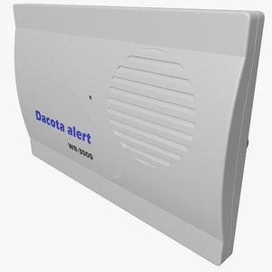 3d model wireless pir security