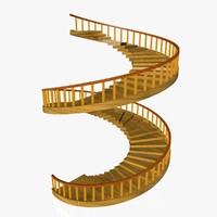 spiral stair 3d 3ds