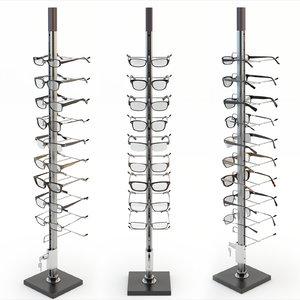 3d model rack glasses