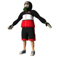 3d model rioter character