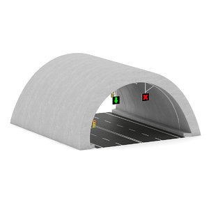 3d highway tunnel model