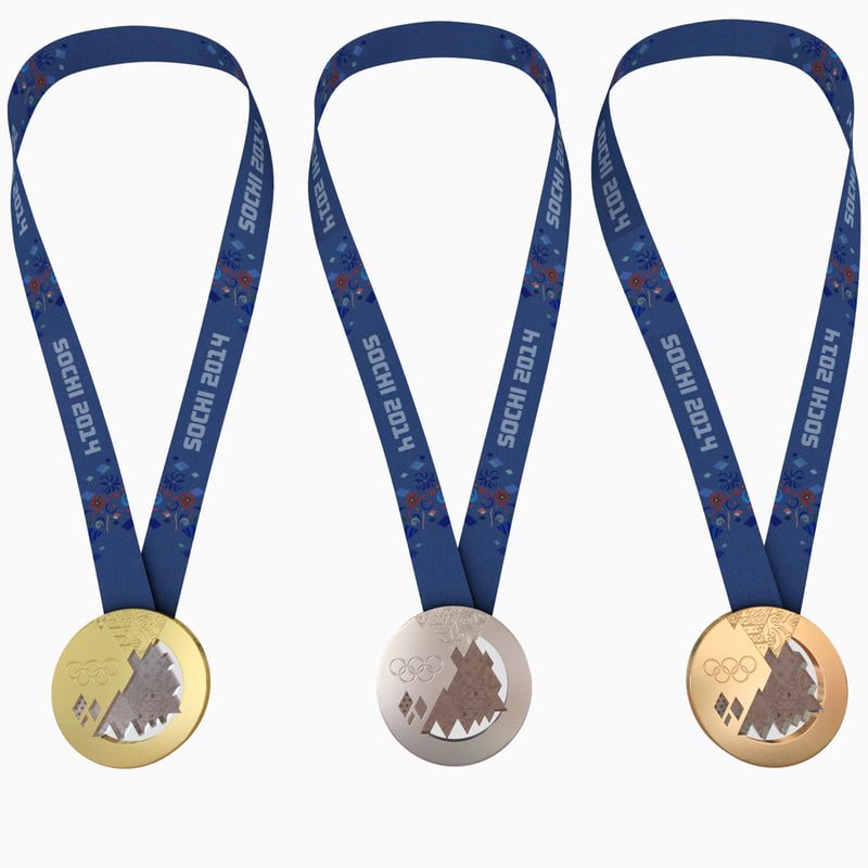 3d model olympic medals - sochi