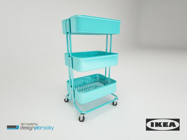 ikea raskog trolley 3d max