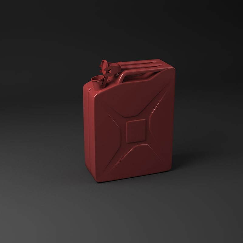 3d model simple jerrycan
