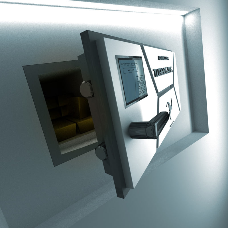 3d stash futuristic safe model