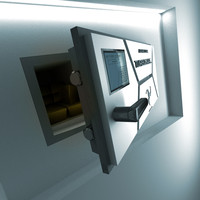 Futuristic Wall Safe