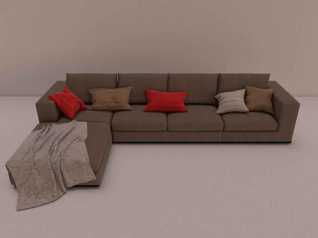3dsmax sofa busnelli easy