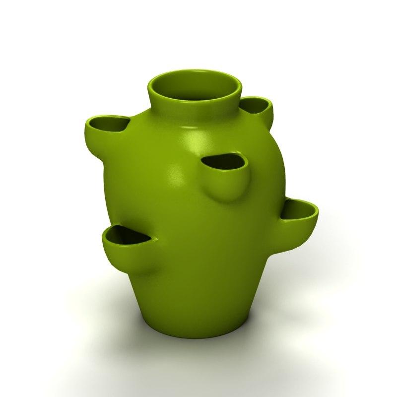 3d model garden vase