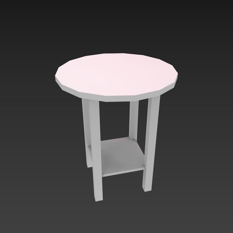 3d model lampstand stand