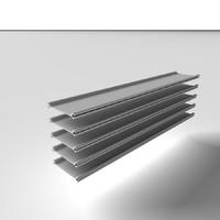 3d model steel piles metal