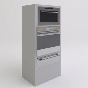 ovens warming drawer 3d model