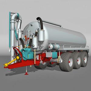 tanker 3 axle 3d lwo
