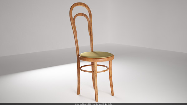 free old chair 3d model