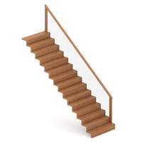 3ds wood wooden stairs