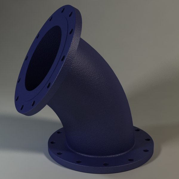 flanged bend socket 12 inch max