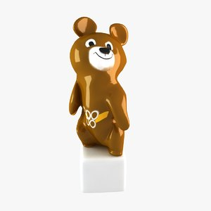 3d model bear sculture soviet