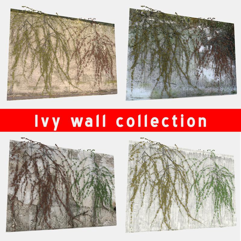 3d odel wall ivy