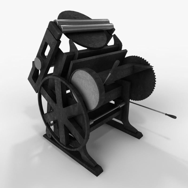 printing press 3d 3ds