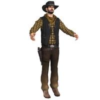 3d model of wild west cowboy
