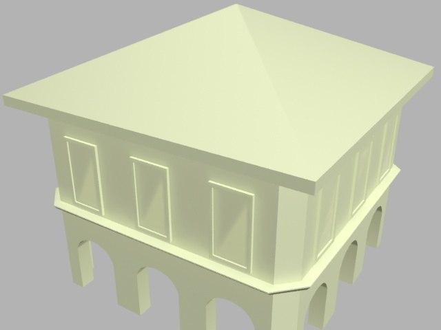 3d model simple building