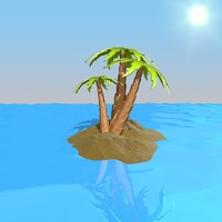 cartoon island c4d
